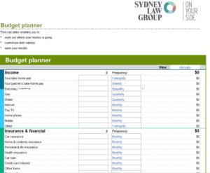 SLG Budget Planner