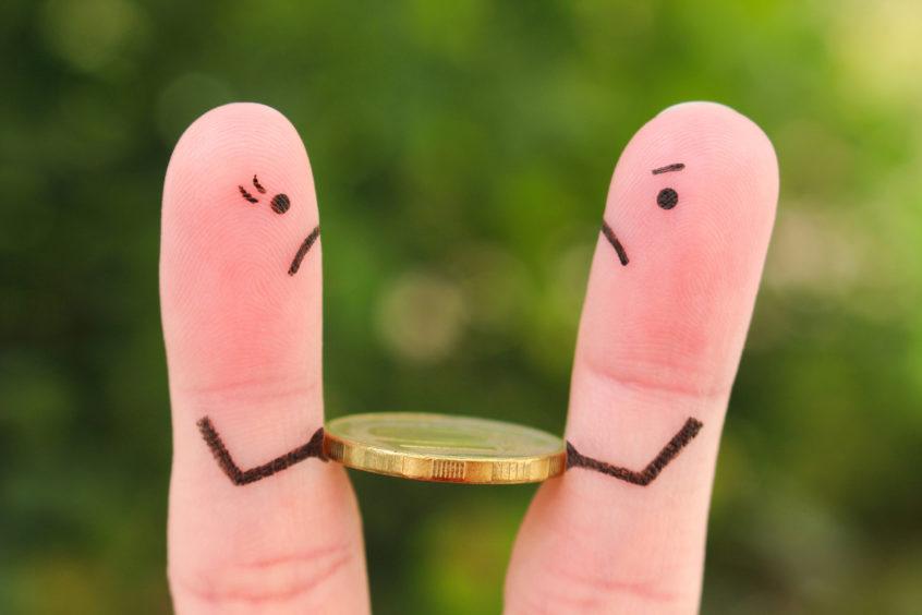 Fingers art of family separation